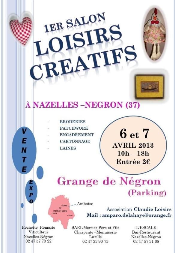 Affiche salon - Nazelles Negron avril 2013